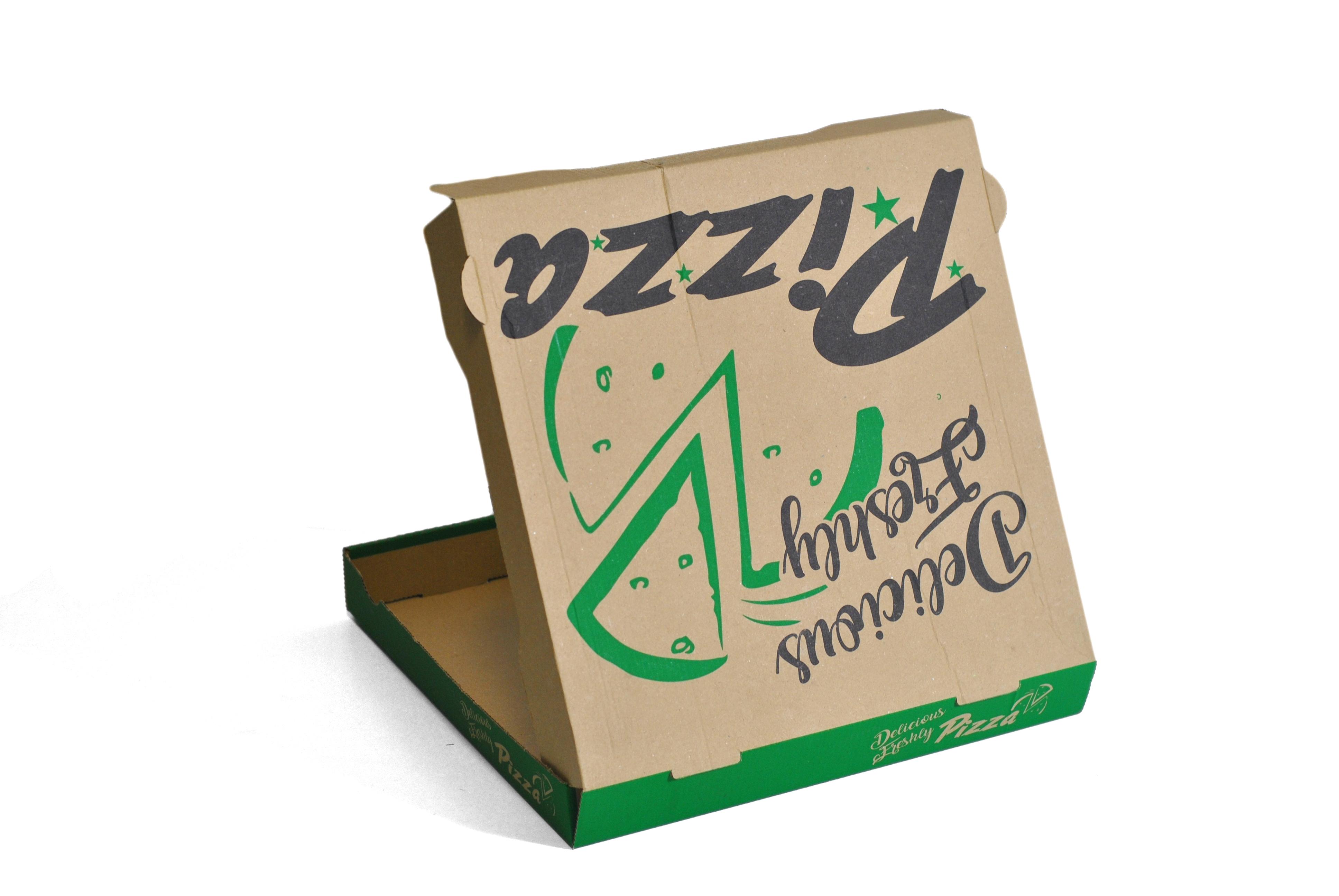 """14"""" DELICIOUS BROWN PIZZA BOX E-FL  1x100"""